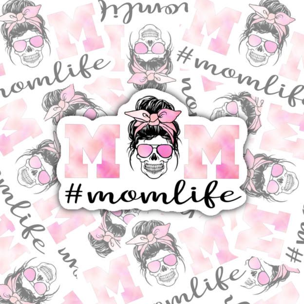 #Momlife #momlife Custom sticker, decal, decal for car, hydro flask, hydro flask, sticker, water bottle, yeti decal, cute sticker, label, MacBook sticker, laptop sticker, laptop decal, MacBook label
